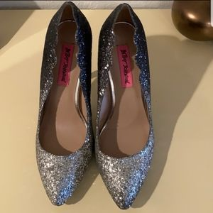 Betsey Johnson Ombre Sparkly Heels